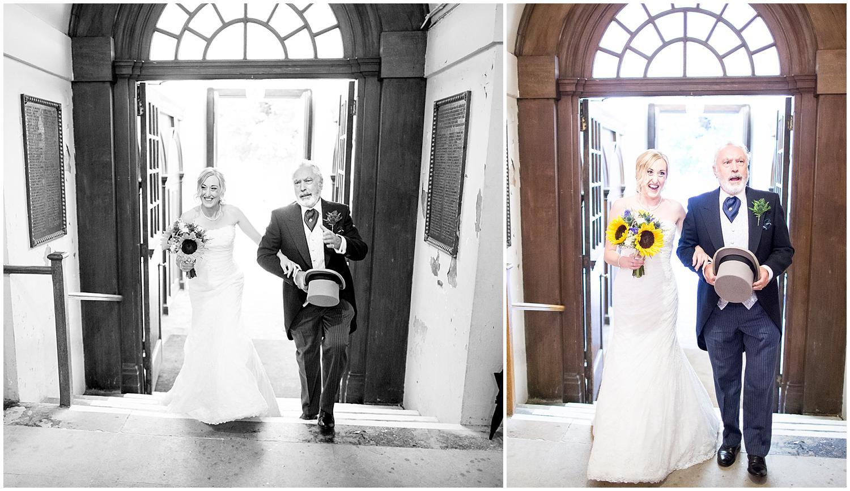 bride arriving to st.alfege church in greenwich