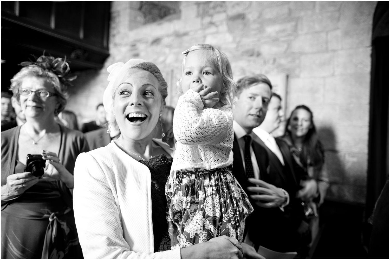 bride enters st.nicholas church in studland