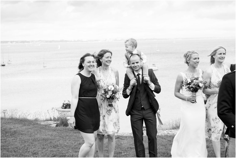 wedding guests by Harry Warren House Dorset Studland Wedding Photographer
