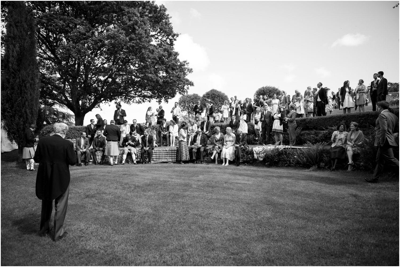 wedding reception exterior image by Harry Warren House Dorset Studland Wedding Photographer
