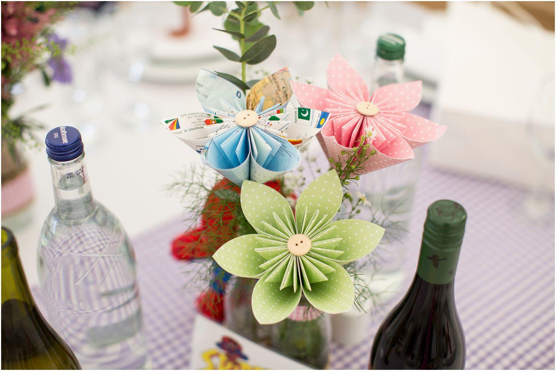 origami wedding table settings