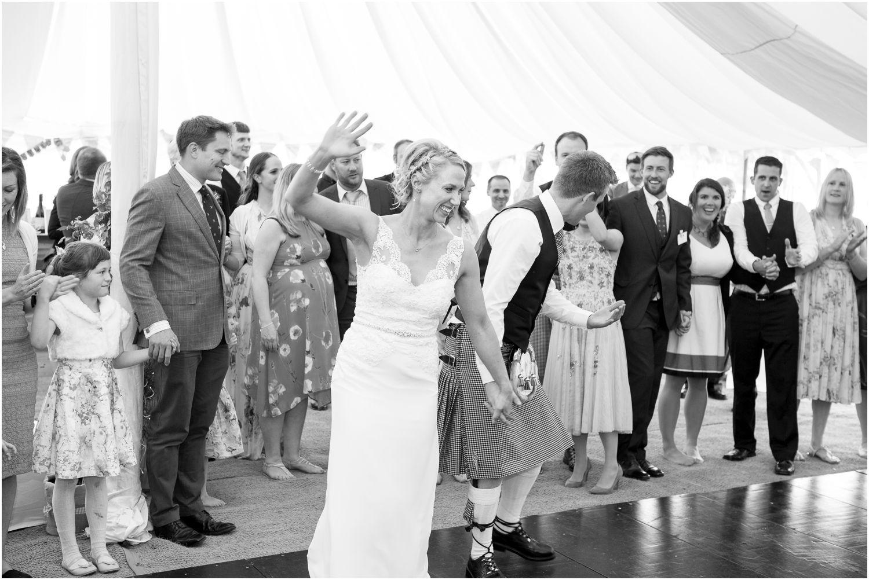 scottish dancing at a dorset wedding