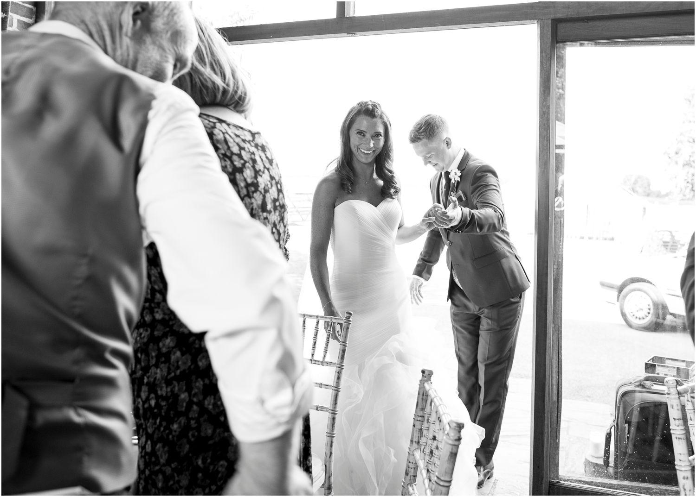 bride and groom wedding photography at bartholomew barn