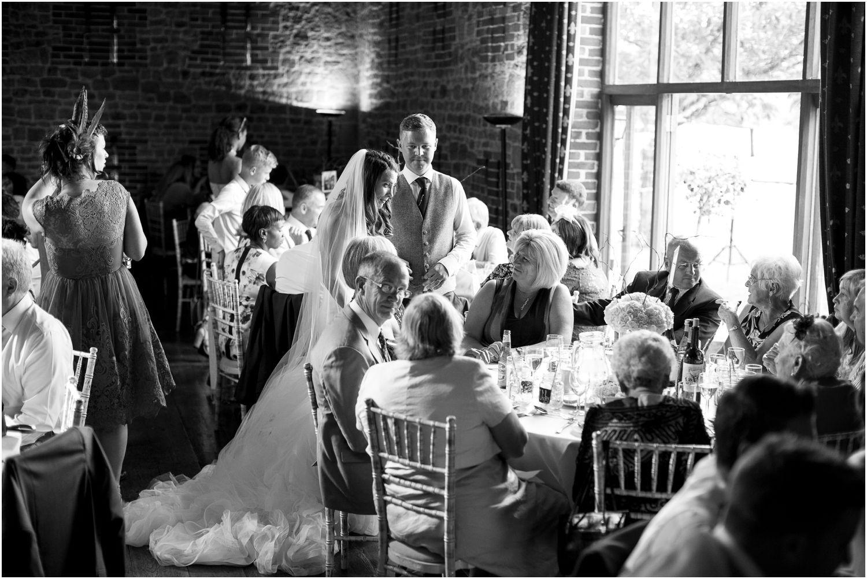 wedding breakfast at bartholomew barn in west sussex