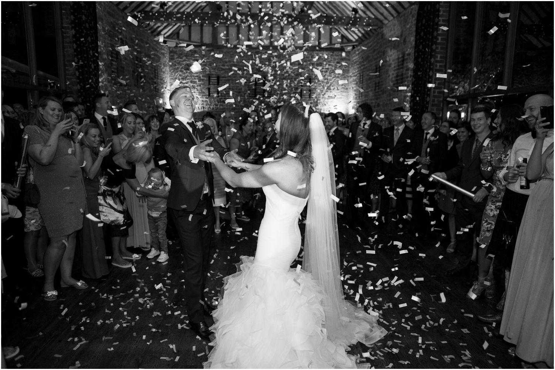 first dance at wedding at bartholomew barn