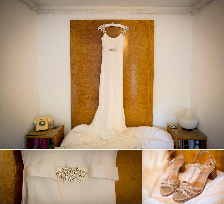 art deco themed wedding dress