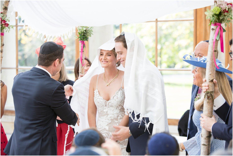 jewish wedding happy at nash conservatory in Kew Gardens