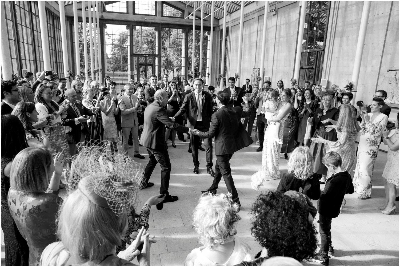 jewish wedding service at Nash Conservatory in Kew Gardens