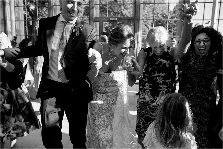 jewish wedding dancing at Nash Conservatory in Kew Gardens