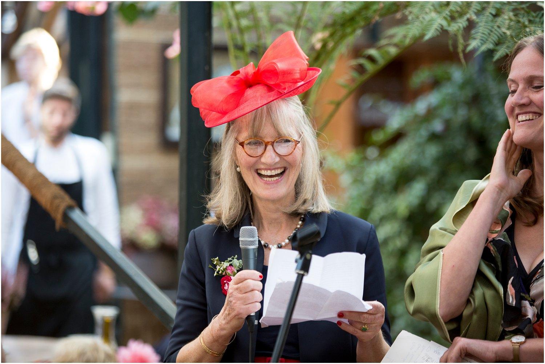 mother of the bride speech at Petersham Nurseries in richmond