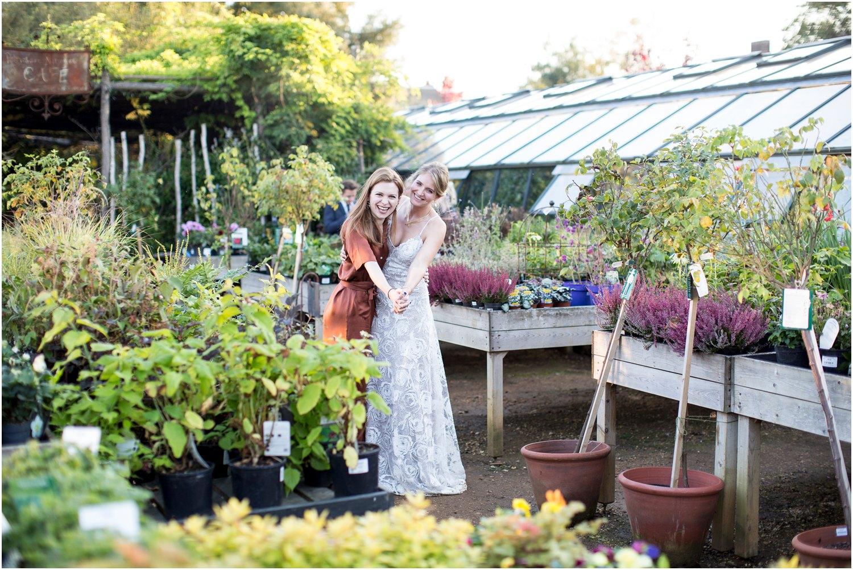 wedding reception portraits at Petersham Nurseries in Richmond