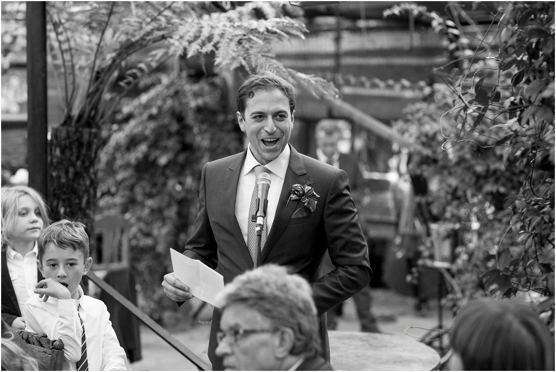 wedding speeches at Petersham Nurseries