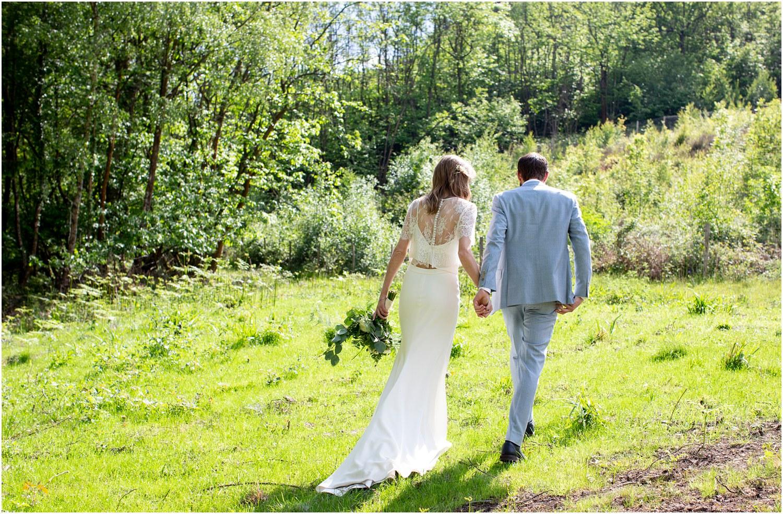 humanist countryside wedding