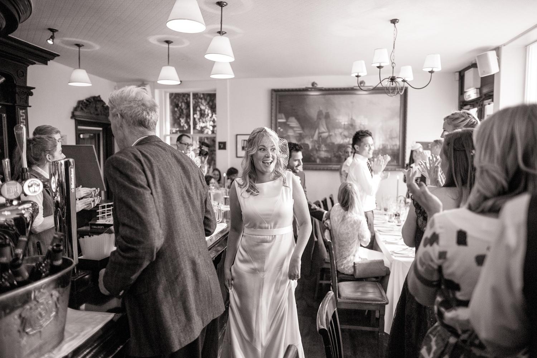 The gun pub wedding reception