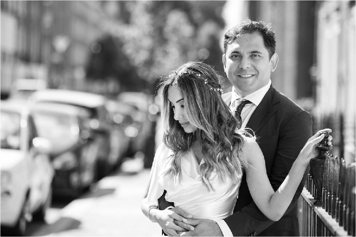 Socially distanced wedding at Old Marylebone Town Hall