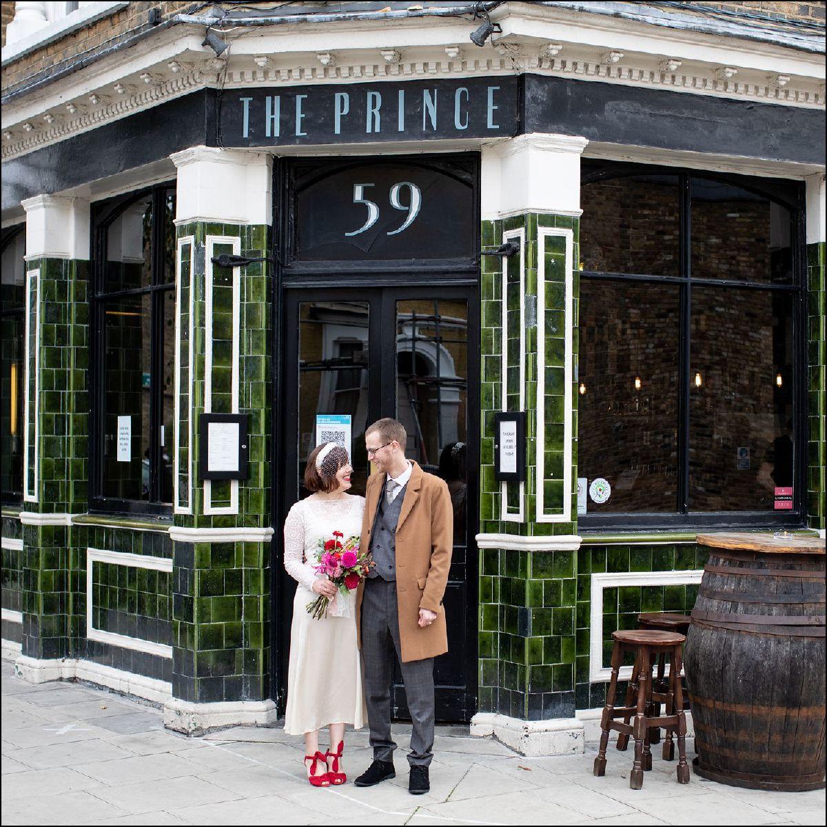 The Prince Pub N16 Wedding