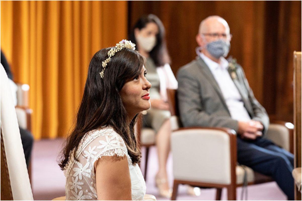 London town hall socially distanced wedding