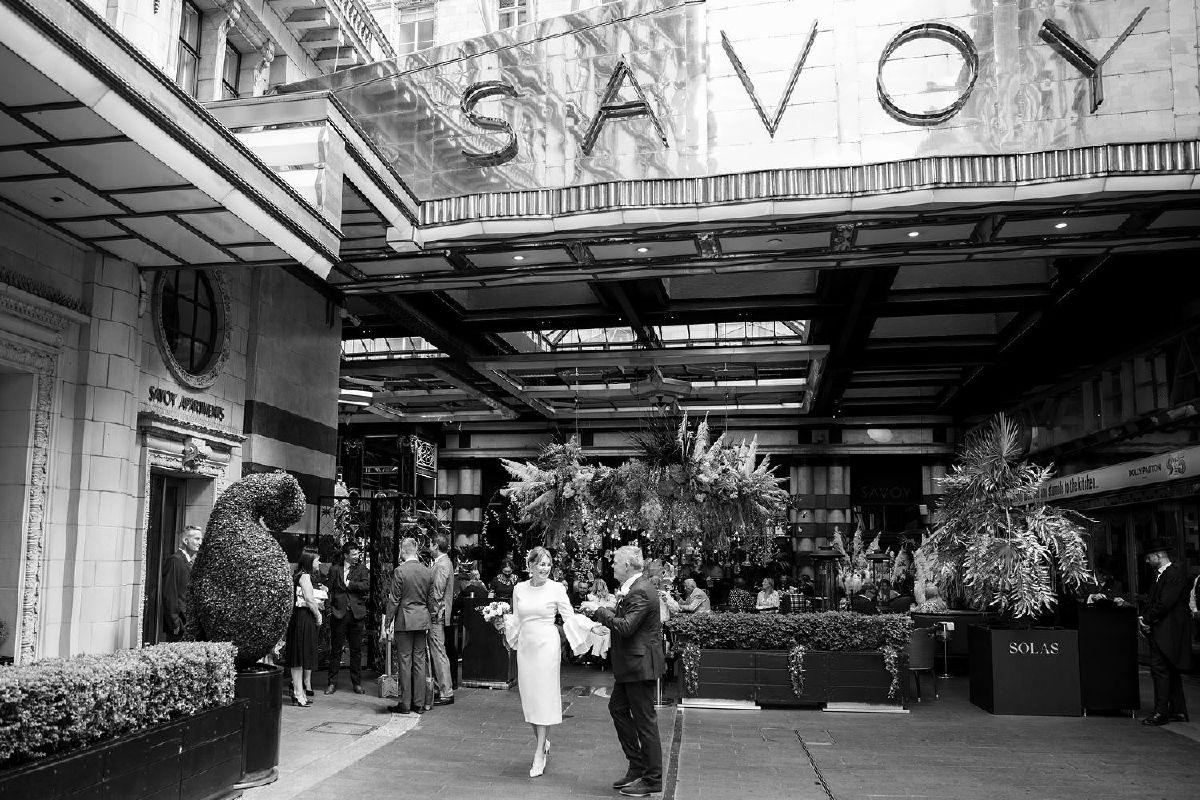 The Savoy Wedding reception