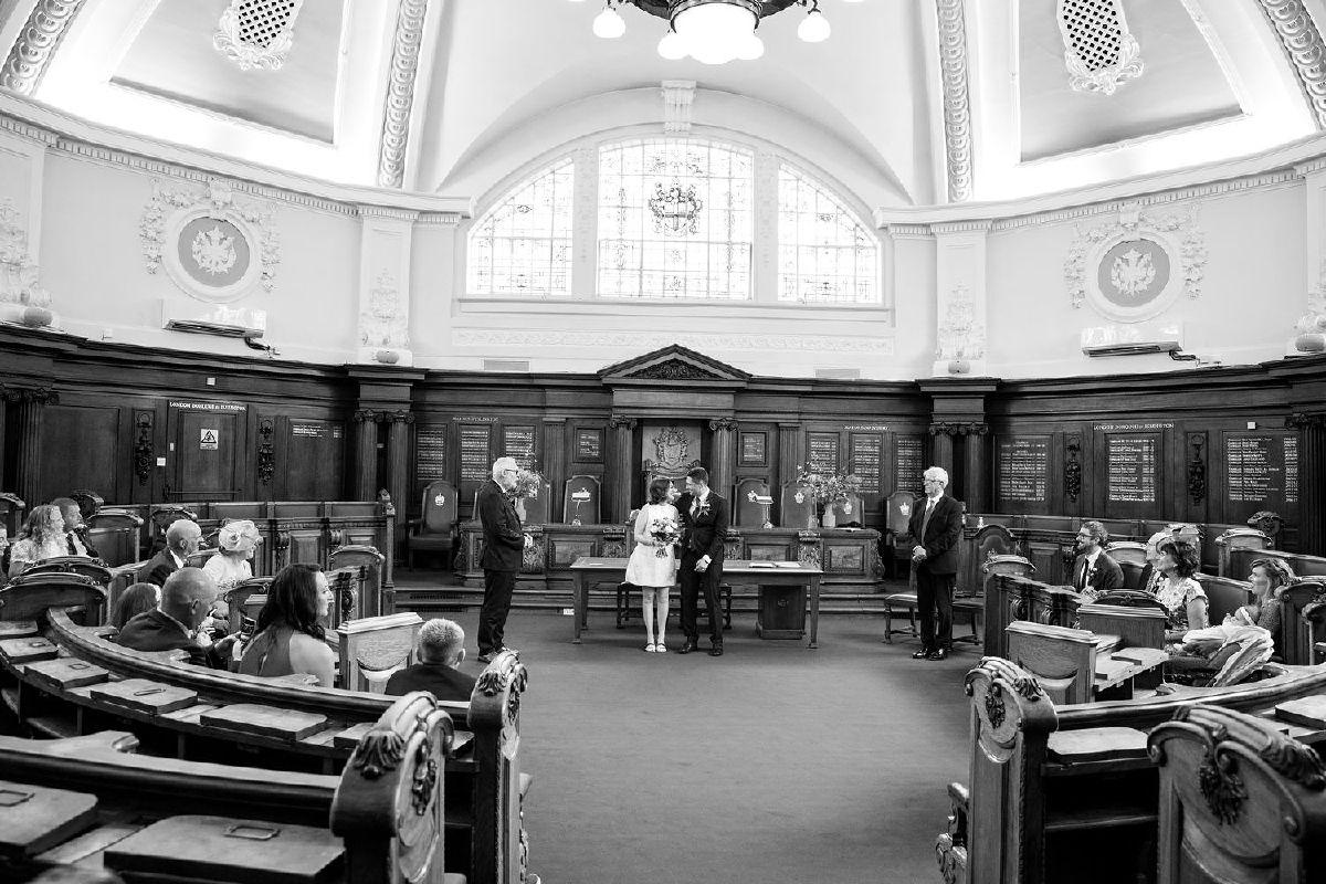 Islington Town Hall wedding Drapers Arms Wedding Reception