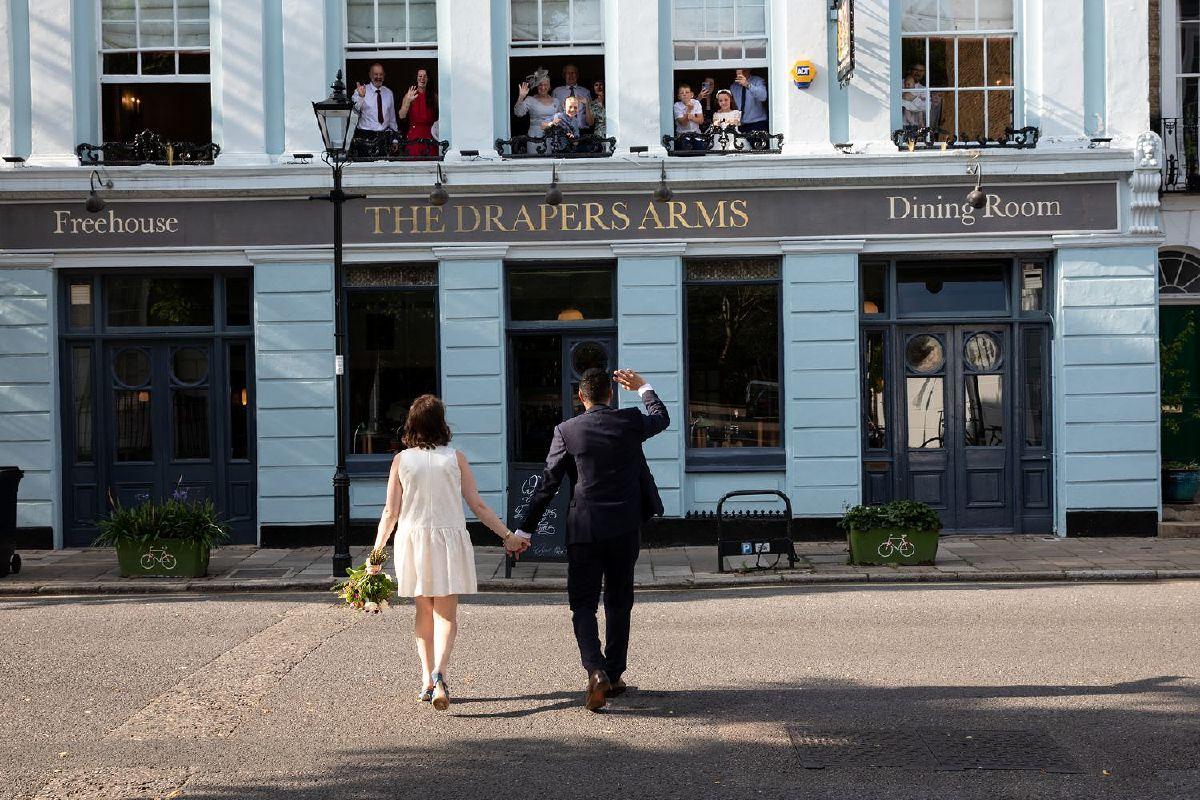 Drapers Arms Pub Islington wedding reception venue
